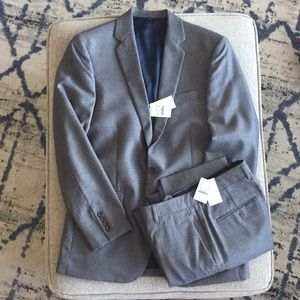 NWT J Crew Thompson Grey Wool Pinstripe Suit